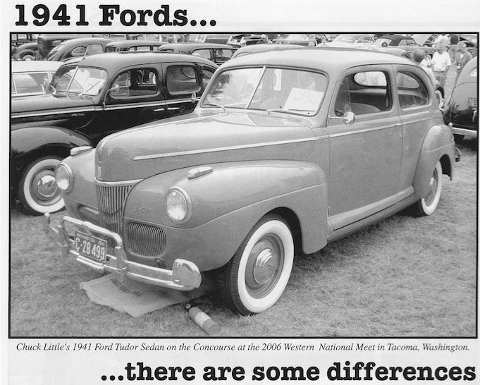 1941 Fords….there are some differences!