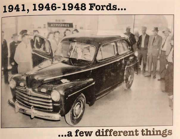 1941, 1946-1948 Fords…a few different things